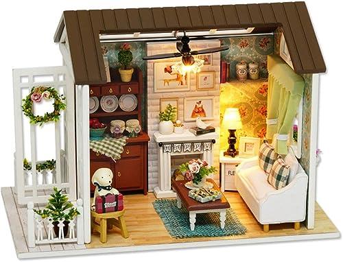 Tienda de moda y compras online. AUMING Juguetes Rompecabezas Casa de muñecas muñecas muñecas en Miniatura Hecha a Mano con Kit de Bricolaje con Muebles de Cocina y Sala de Estar con Regalo de Hija (Color   Beautiful Years)  vendiendo bien en todo el mundo
