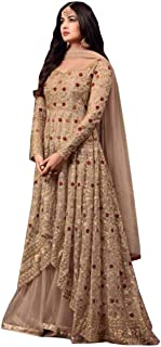 Womens Wine Color Heavy Embroidered Anarkali Suit (5608_Wine_Free Size)