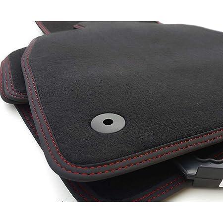 Kh Teile Fußmatten Passend Für Tiguan 5n Premium Qualität Velours Autoteppiche 4 Teilig Schwarz Ziernaht Rot Auto