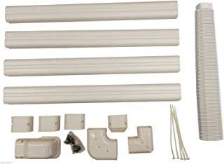 pioneer air conditioner Decorative PVC Line Cover Kit for Mini Split Air Conditioners and Heat Pumps - WYS-LCVR-KIT (Renewed)