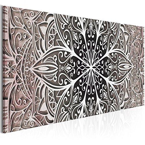 murando Cuadro en Lienzo Mandala 150x50 cm 1 Parte Impresión en Material Tejido no Tejido Impresión Artística Imagen Gráfica Decoracion de Pared - Oriental Zen f-A-0672-b-c