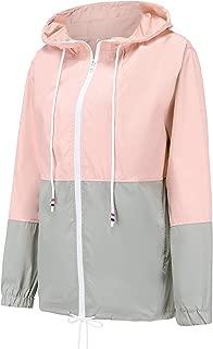 Women's Lightweight Waterproof Raincoat Active Outdoor Windproof Hooded Rain Jacket