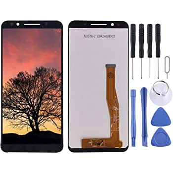 5008 Black LCD Screen and Digitizer Full Assembly for Alcatel 1x Premium Quality Color : Black 2019