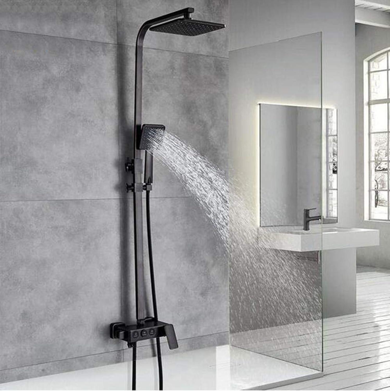 MICHEN Schwarzer Bronze-Regendusche-Mischbatterie-Hahn in der Wand Bad-Dusche stellte einzigen Handgriff mit der Handbrause 360 EIN