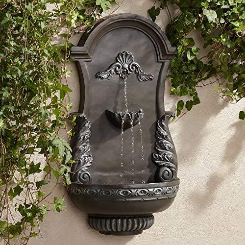 John Timberland Tivoli Bronze Ornate 33' High Wall Fountain