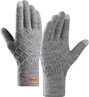 Dsxnklnd Luvas de lã para outono inverno masculinas luvas quentes para ciclismo ao ar livre