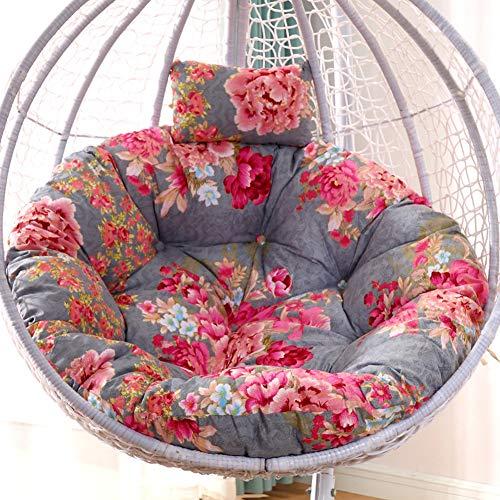 Idomeo Cojín giratorio de ratán para silla, cojín redondo Papasan gira completamente adecuado para jardín, balcón y terraza (105 cm), D