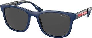 Prada - Gafas de Sol Linea Rossa LINEA ROSSA SPS 04X Navy Rubber/Dark Grey 54/18/145 hombre
