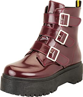 Cambridge Select Women's Retro 90s Strappy Buckle Chunky Platform Ankle Boot