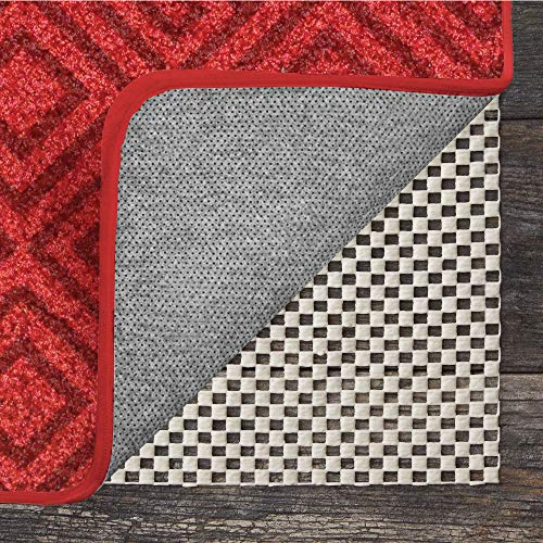 GRIP MASTER 2X Extra Thick Area Rug Cushioned Gripper Pad, 6 Feet x 9 Feet, for Hard Surface Floors, Maximum Gripper and Cushion for Under Rugs, Premium Protection Pads, Many Sizes, Rectangular