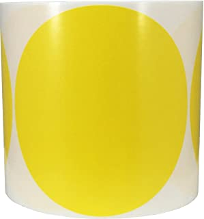 Yellow Color Coding Labels for Organizing Inventory 5 Inch Round Circle Dots 500 Total Adhesive Stickers On A Roll