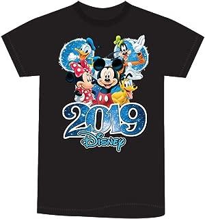 Disney Adult Unisex 2019 Dated Fabulous Group Mickey Minnie Donald Goofy Pluto Black Tee