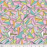 Origami Paper Planes Pink Pen & Paper Stationary 100% algodón tela por Blend (Reino Unido)