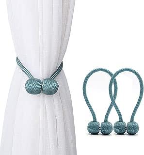 teal curtain tie backs beaded