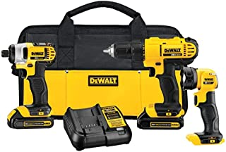 Factory Reconditioned DEWALT DCK340C2R DCK340C2 20V MAX Lithium Ion 3-Tool Combo Kit