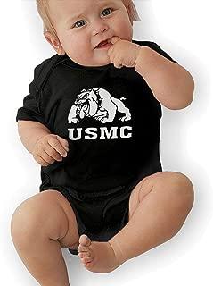 USMC Marine Corps Bulldog Baby Organic Pajamas Organic Bodysuits