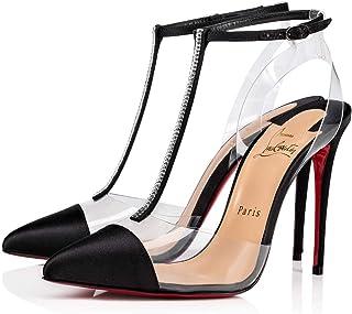 4d7904483cc9 Christian Louboutin Women s 1190344BK01 Black Satin Sandals