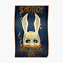 Rapture Masquerade Ball 1959 Poster Small (15 x 23.2 in) | Posters Wall Art for College University Dorms, Blank Walls, Bedrooms | Gift Great Cool Trendy Artsy Fun Awesome Present