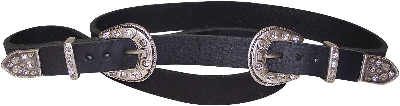 FRONHOFER women's belt, double buckle antique silver western buckles cowboy belt, Size waist size 33.5 IN M EU 85 cm, color Black
