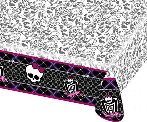 ALMACENESADAN 2508; Mantel Fiesta Monster High; Ideal para Fiestas y cumpleaños; Dimensiones 120x180 cm; Producto de plático