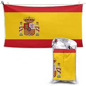 W-wishes Alta Detallada Bandera España Toalla Deportiva Toalla de Playa de Microfibra Toalla de Playa para Hombre Toalla de Microfibra para natación: Amazon.es: Hogar