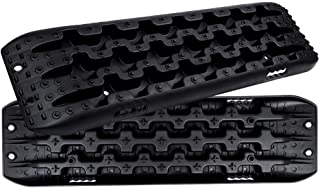 FIREBUG Recovery Track, Recovery Traction Mats for Off-Road Mud, Sand, Snow Vehicle Extraction (Set of 2), Black