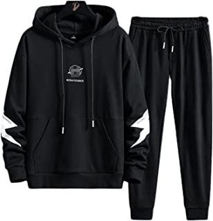 Men's sportswear 2-piece hoodie sportswear suit casual and comfortable jogging suit, Tracksuit Two-Piece Set Top and Pants...