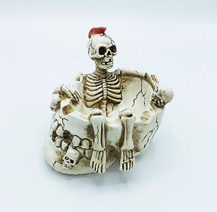ed07d990e Skull Ashtray Skeleton Cigarette Ash Tray Table Top Decoration Ash Tray
