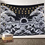 Aamebay Black and White Tapestry Wall Hanging,Hippie Bohemian Wall Tapestry for Living Room Bedroom Dorm Decor Wall BlanketWall Tapestry for Living Room Bedroom Dorm Decor Wall Blanket (200*150CM)