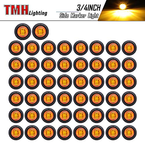 TMH 3/4-Inch Mount Amber LED Trailer Marker Lights, Pack of 50 Kentucky