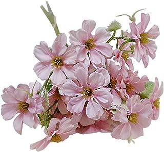 pittospwer 1 Ramo Flores Artificiales en casa Accesorios decoración Fiesta Boda de Escenario de jardín Pink
