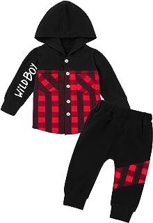 Sponsored Ad - Toddler Boy Clothes Winter Outfits Cute Infant Dinosaur Hoodie Baby Boy Sweatsuit+Dinosaur Pants 2PCS Set