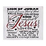 CafePress The Name of Jesus Throw Blanket Soft Fleece Throw Blanket, 50'x60' Stadium Blanket