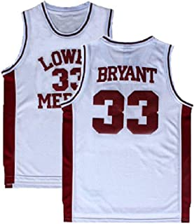 9b499f871 Fahgste Men s Kobe Jersey 33 Legend Jerseys Retro Basketball Bryant Jersey  White(S-XXL