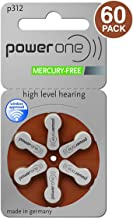 Power One p312 Hearing Aid Battery, 60 Count (2 Units)