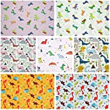 7Pcs Cartoon Prined 18' x 22' Fat Quarters Fabric Bundles for Patchwork Quilting,Pre-Cut Quilt Squaresfor DIY Sewing Patterns Crafts