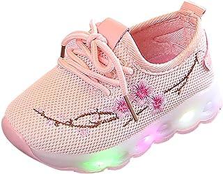 WEXCV Unisex baby sneakers meisjes jongens bloem loopschoenen lichte schoenen ademend outdoor licht antislip geweven schoe...