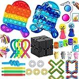 Fidget Toy, Fidget Toy Pack, 30 Pack Fidget Toys con Simple para Antiestres Niños, Fidget Toys Set Juguetes Anti Stress con Stress Fidget Ball, Regalos para Niños, Antiestres Adultos