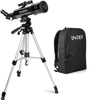 Telescopio Astronómico INTEY – 70 X 400 MMTelescopio Niños Lente de Alta definición Portátil (con Mochila) Telescopio con Trípode (k6 mm k25 mm)