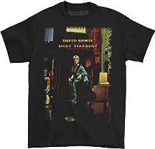 Impact David Bowie Ziggy Plays Guitar Adult T-Shirt Black