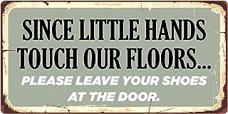 StickerPirate 1017HS Since Little Hands Touch Our Floors 5