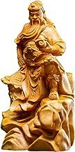 Feng Shui Decor Guan Yun Chang Statue Guan Gong Wood Statue Figure Buddha Statue Boxwood Sculpture Wooden Carving Guan Yu ...