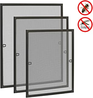 Uisebrt - Mosquitera para ventanas, marco de aluminio, sin taladros ni tornillos