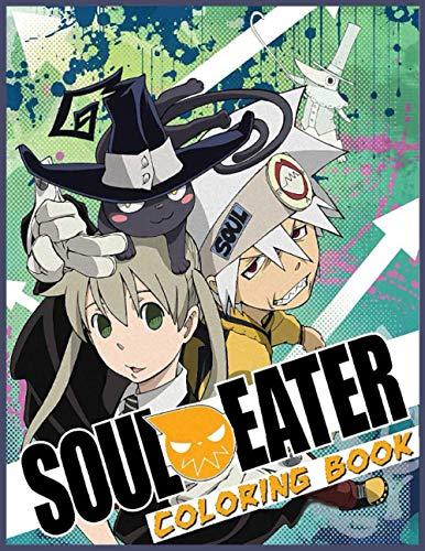 Soul Eater Coloring Book: libro para colorear del devorador de almas