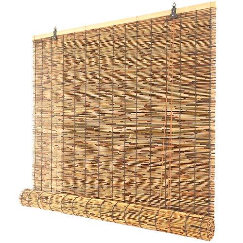Persianas Enrollables de Bambú,Cortina de Caña,Cortinas Opacas,Persianas de Paja,Estores Enrollables Romanas,Sunshade Partition Curtain,para Interiores Exterior,Personalizables (100x240cm/39x95in)