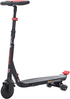 Rollplay 24V Wave Catcher Electric Scooter Toy - for Boys & Girls Ages 8 & Up - Battery Operated Kid's Power Performance Toy - Black