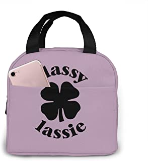 Classy Lassie St. Patrick's Day Lunch Bag Cooler Bag Kid Insulated Lunch Box Water-resistant Thermal Lunch Box Soft Liner Lunch Bags For Mens Womens