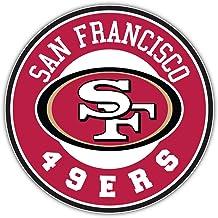 ملصق ملصق من الفينيل مطبوع عليه شعار فريق سان فرانسيسكو سيتي 49 الرياضي لكرة القدم شعار محفور مقاس 30.48 سم × 30.48 سم