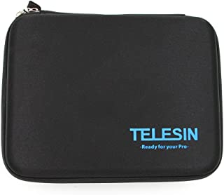TELESIN Shockproof Shock-resistant Protective Travel Carry Bag Case for Gopro Hd Hero 3 Hd3+ 2 1 Camera & Gopro Accessories (S, M, L) (Medium, Black)