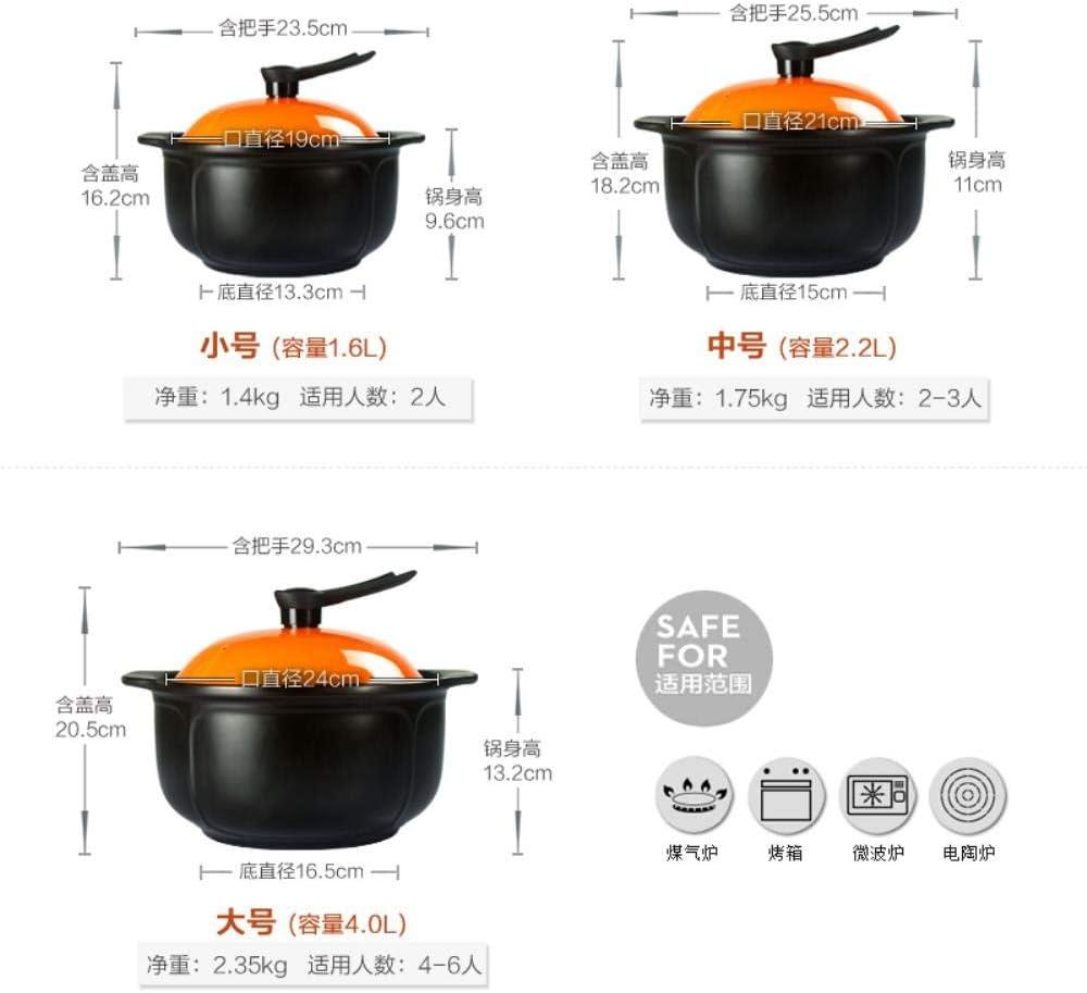 COMPY Kreativer Suppenbrei-Eintopf Vertikale Deckelabdeckung Auflauf aus Keramik im koreanischen Stil hitzebeständig hitzebeständig Topfpfanne, 2 10